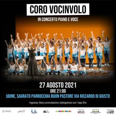 CONCERTO CORO VOCINVOLO @UDINE, SAGRATO PARROCCHIA BUON PASTORE 27/08