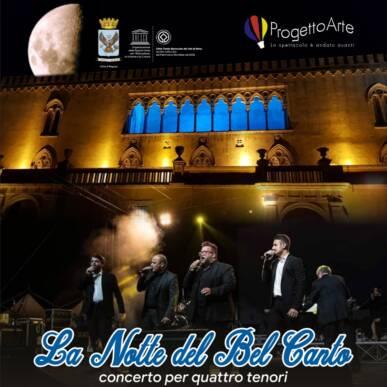 LA NOTTE DEL BEL CANTO – concerto per quattro tenori @Castello di Donnafugata RAGUSA il 31/8/2021