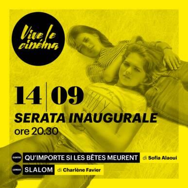 MARTEDì 14/09 Vive le cinéma! – SERATA INAUGURALE