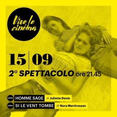 MERCOLEDì 15/09 VIVE LE CINéMA! – Secondo spettacolo