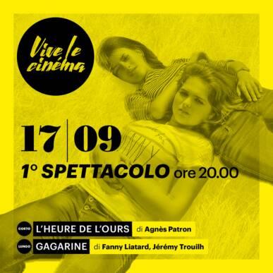 VENERDì 17/09 Vive le cinéma! – QUARTA SERATA – Primo spettacolo