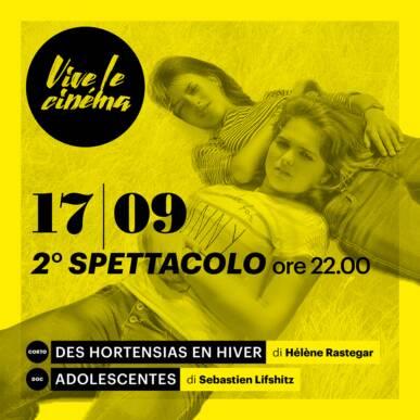 VENERDì 17/09 Vive le cinéma! – QUARTA SERATA – Secondo spettacolo