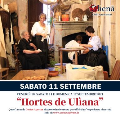 Hortes de Ulìana – SABATO 11 Settembre