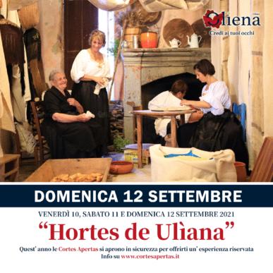 Hortes de Ulìana – DOMENICA 11 Settembre