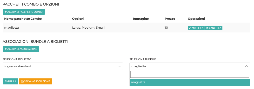 OOOH.Events Tutorial Combo e Ingresso